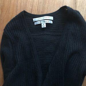 Long black cashmere cardigan
